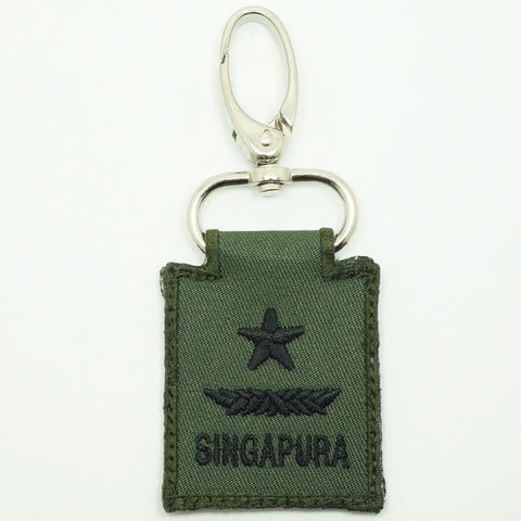 MINI SAF RANK KEYCHAIN - BG (OD GREEN)