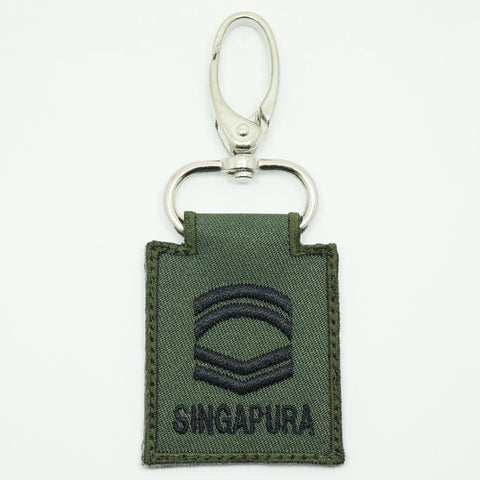 MINI SAF RANK KEYCHAIN - CFC (OD GREEN)
