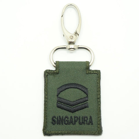 MINI SAF RANK KEYCHAIN - CPL (OD GREEN)