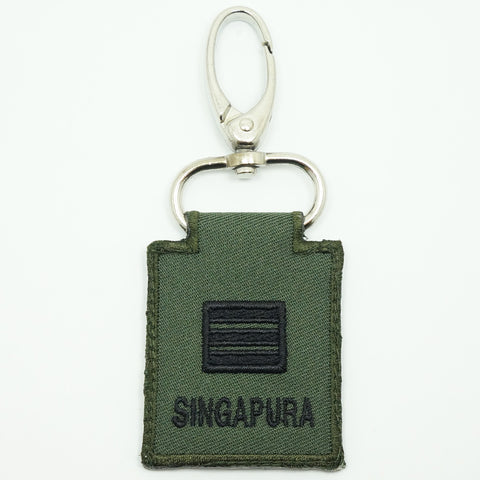 MINI SAF RANK KEYCHAIN - CPT (OD GREEN)