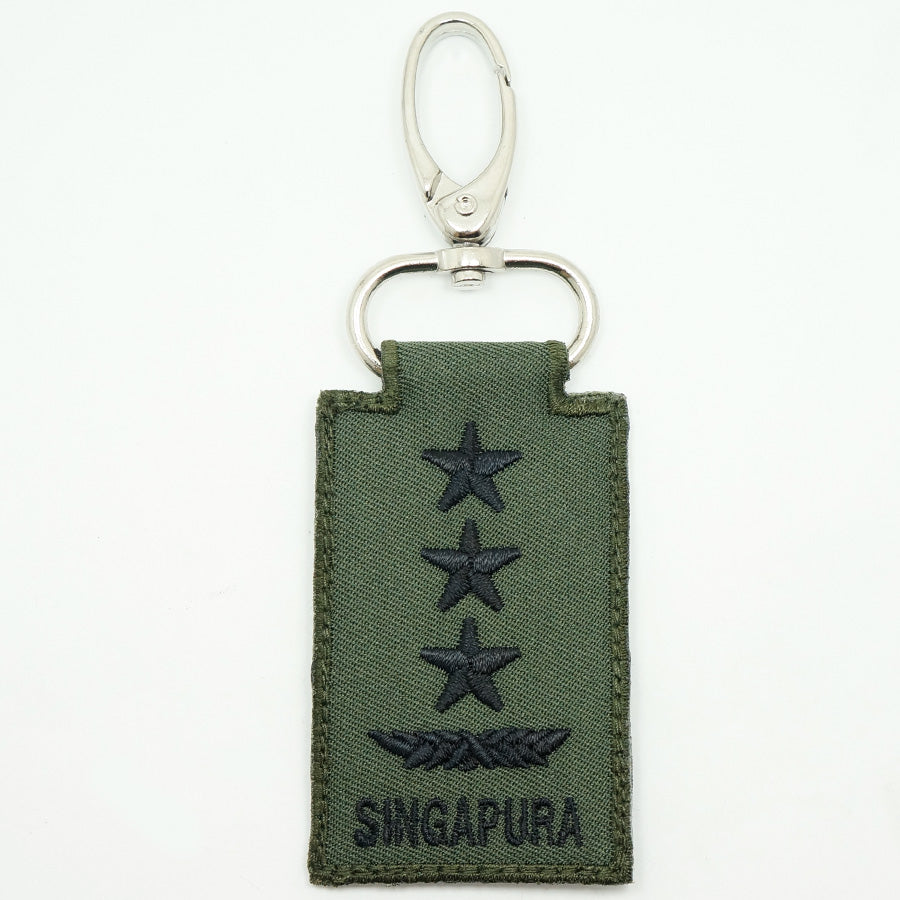 MINI SAF RANK KEYCHAIN - LG (OD GREEN)