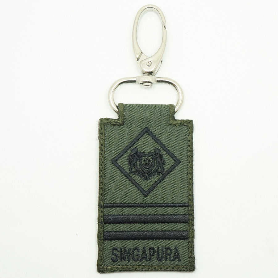 MINI SAF RANK KEYCHAIN - ME7 (OD GREEN)