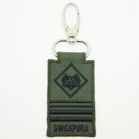 MINI SAF RANK KEYCHAIN - ME8 (OD GREEN)