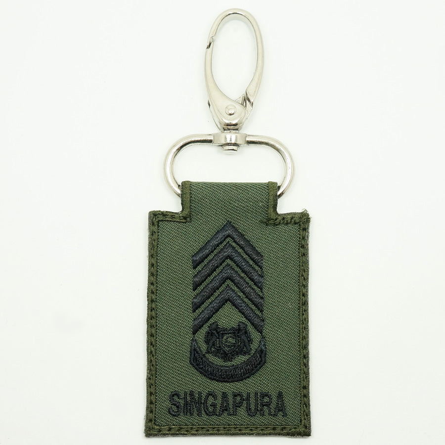 MINI SAF RANK KEYCHAIN - SWO (OD GREEN)