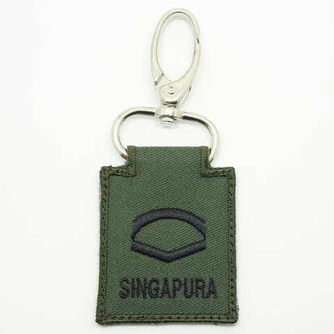 MINI SAF RANK KEYCHAIN - LCP (OD GREEN)