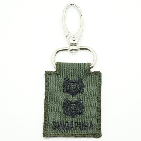 MINI SAF RANK KEYCHAIN - LTC (OD GREEN)