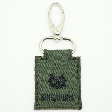 MINI SAF RANK KEYCHAIN - MAJ (OD GREEN)