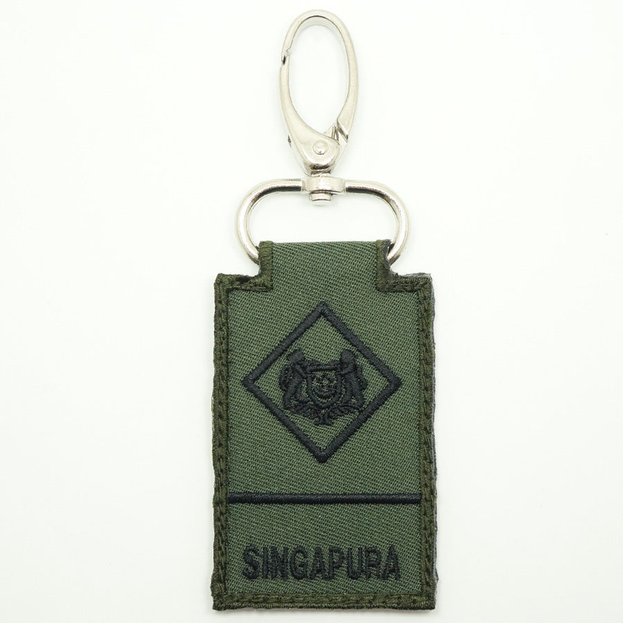 MINI SAF RANK KEYCHAIN - ME1 (OD GREEN)