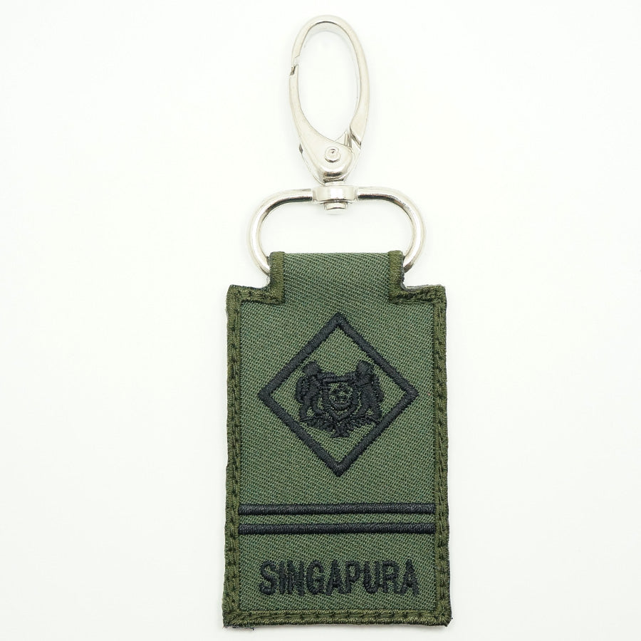 MINI SAF RANK KEYCHAIN - ME2 (OD GREEN)