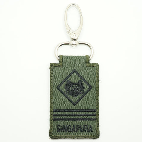 MINI SAF RANK KEYCHAIN - ME3 (OD GREEN)
