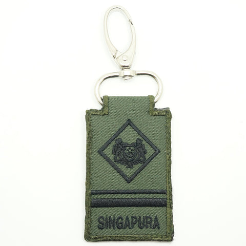 MINI SAF RANK KEYCHAIN - ME4 (OD GREEN)