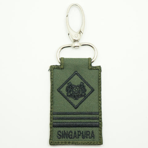 MINI SAF RANK KEYCHAIN - ME5 (OD GREEN)