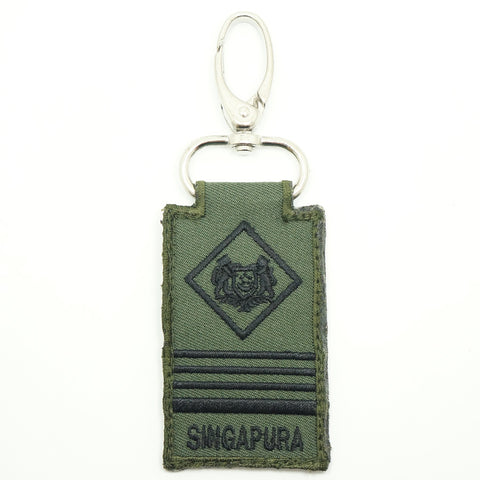 MINI SAF RANK KEYCHAIN - ME6 (OD GREEN)