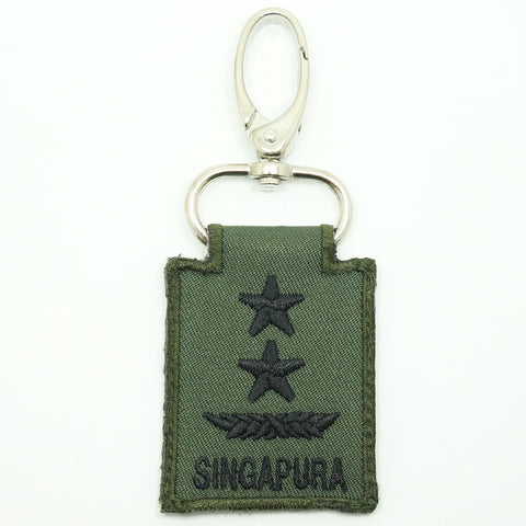 MINI SAF RANK KEYCHAIN - MG (OD GREEN)