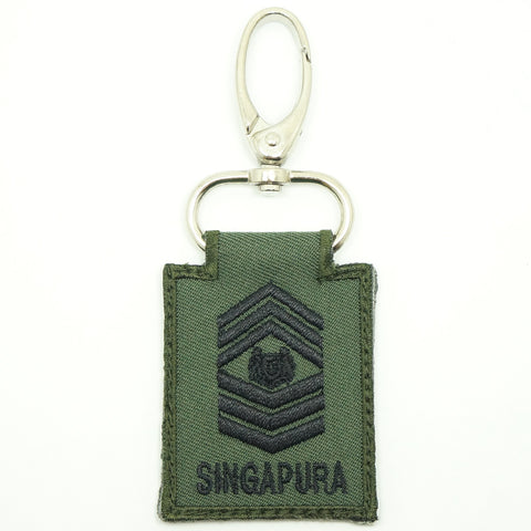 MINI SAF RANK KEYCHAIN - MSG (OD GREEN)