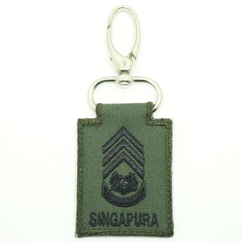 MINI SAF RANK KEYCHAIN - MWO (OD GREEN)