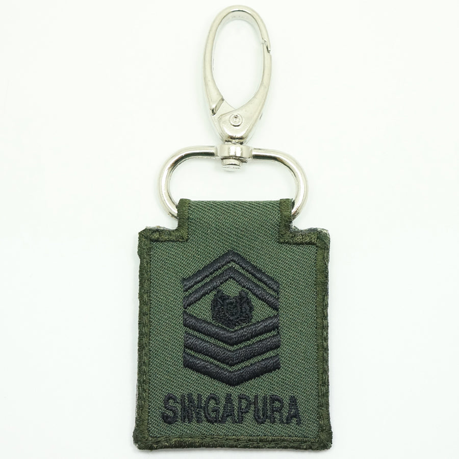 MINI SAF RANK KEYCHAIN - SSG (OD GREEN)