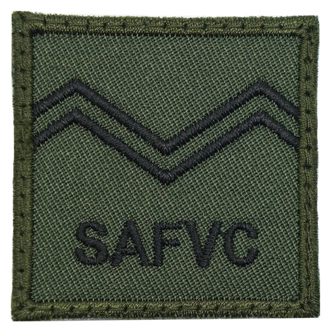 MINI SAF RANK PATCH - SV 2 (OD GREEN)