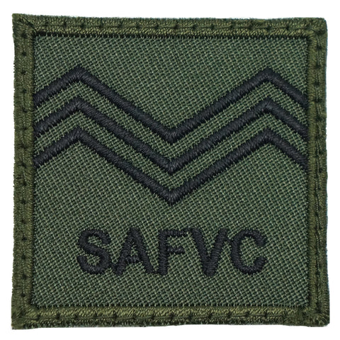MINI SAF RANK PATCH - SV 3 (OD GREEN)