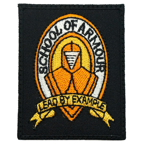 SCHOOL OF ARMOUR LOGO PATCH - LEAD BY EXAMPLE