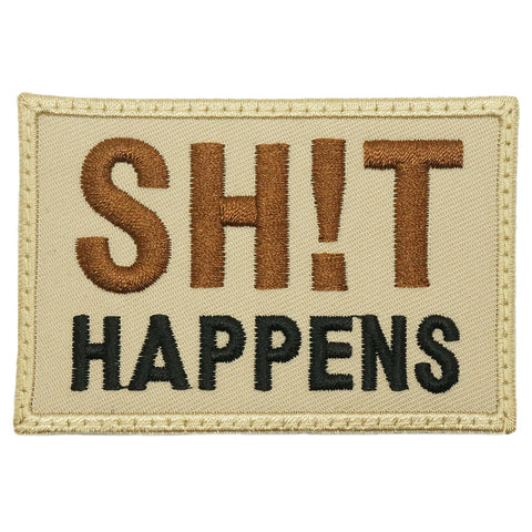 SHIT HAPPENS PATCH - KHAKI