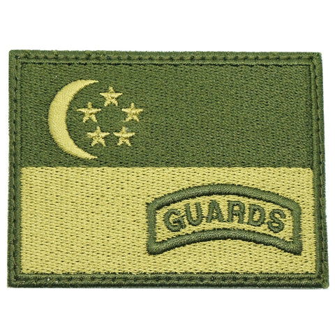 SINGAPORE FLAG WITH GUARDS TAB - OD GREEN