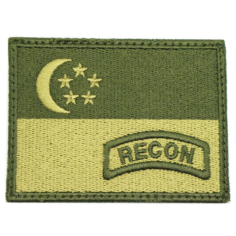 SINGAPORE FLAG WITH RECON TAB - OD GREEN