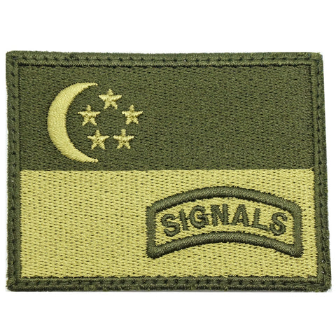 SINGAPORE FLAG WITH SIGNALS TAB - OD GREEN