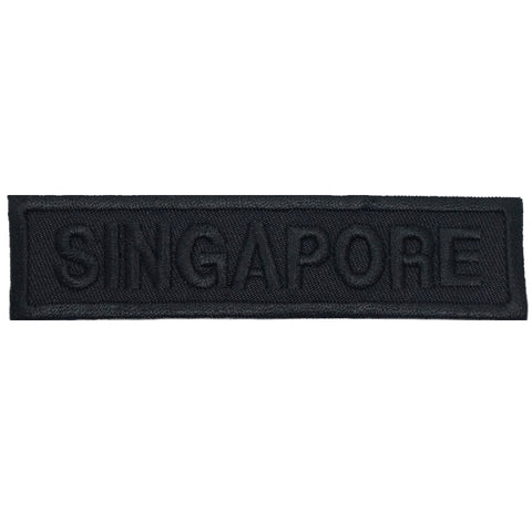LBV SINGAPORE COUNTRY TAG - ALL BLACK