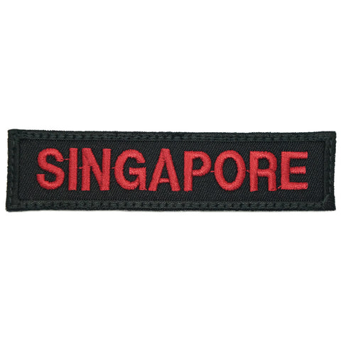 LBV SINGAPORE COUNTRY TAG - BLACK MAROON