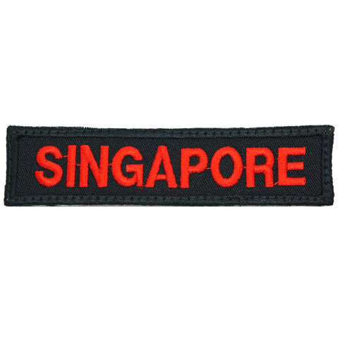 LBV SINGAPORE COUNTRY TAG - BLACK RED