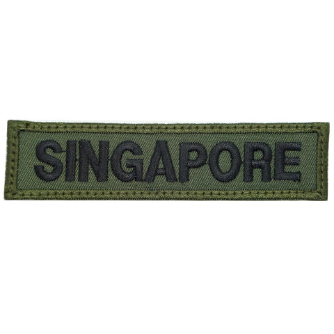 LBV SINGAPORE COUNTRY TAG - GREEN BORDER
