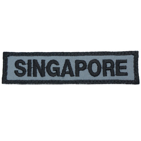 LBV SINGAPORE COUNTRY TAG - GREY WITH BLACK BORDER