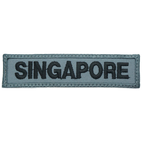 LBV SINGAPORE COUNTRY TAG - GREY WITH GREY BORDER