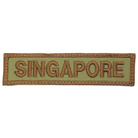 LBV SINGAPORE COUNTRY TAG - OLIVE BROWN