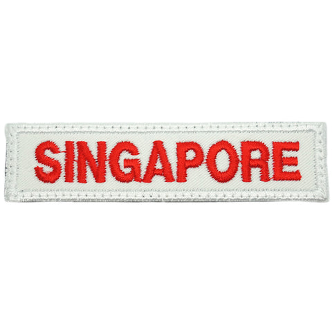 LBV SINGAPORE COUNTRY TAG - WHITE RED