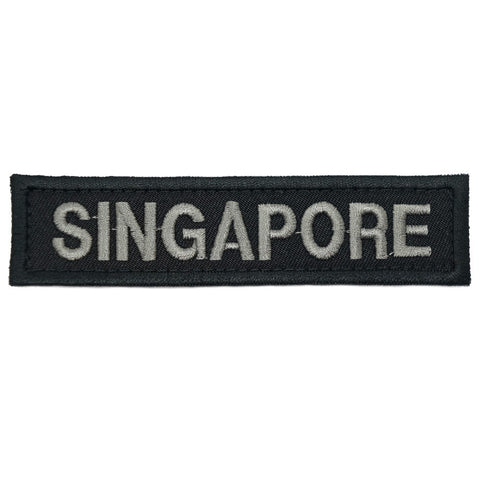 LBV SINGAPORE COUNTRY TAG - BLACK FOLIAGE - Hock Gift Shop | Army Online Store in Singapore