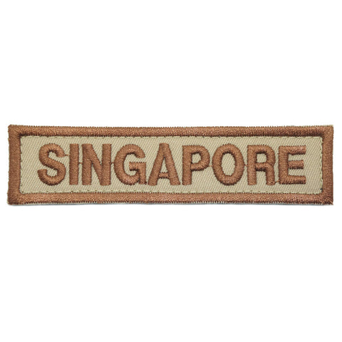 LBV SINGAPORE COUNTRY TAG - KHAKI - Hock Gift Shop | Army Online Store in Singapore