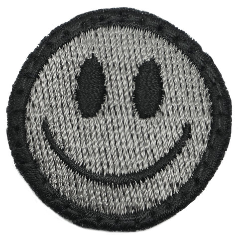 SMILEY FACE PATCH - BLACK FOLIAGE