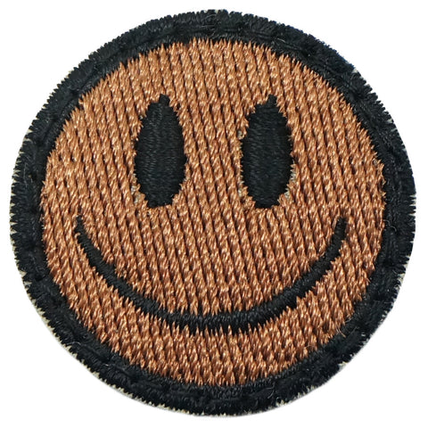SMILEY FACE PATCH - COYOTE