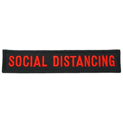 SOCIAL DISTANCING - BLACK RED