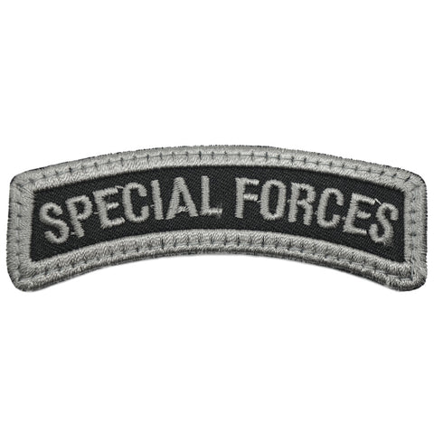 SAF SPECIAL FORCES TAB, OLD - BLACK FOLIAGE