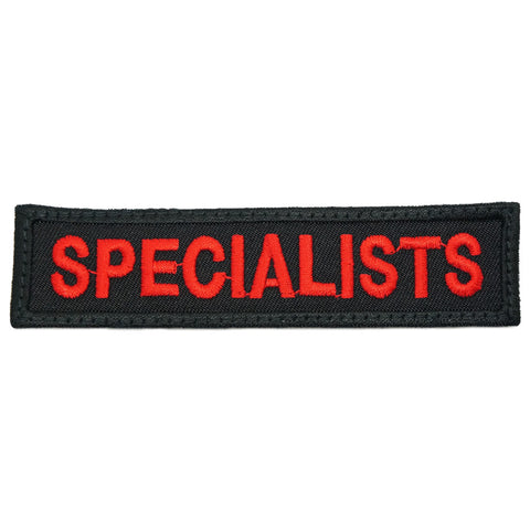 SPECIALIST PATCH - BLACK RED