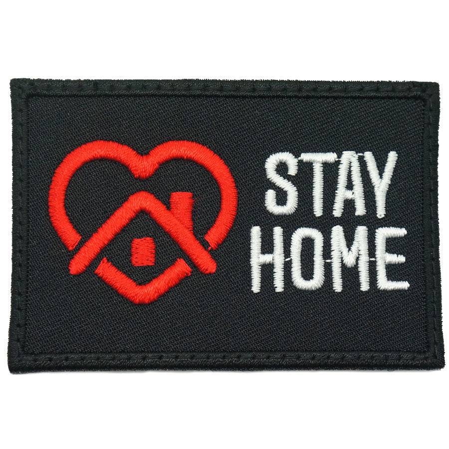 STAY HOME PATCH - BLACK RED