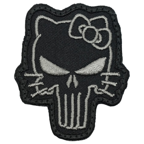 TACTICAL KITTY PATCH - BLACK FOLIAGE