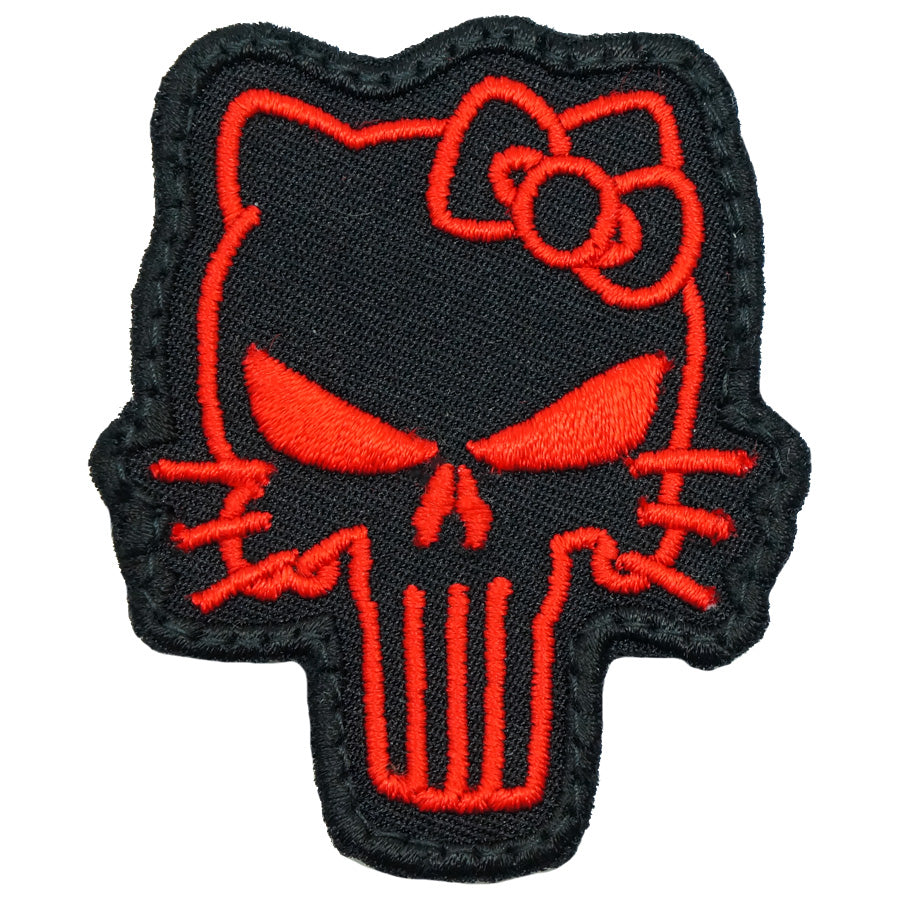 TACTICAL KITTY PATCH - BLACK RED