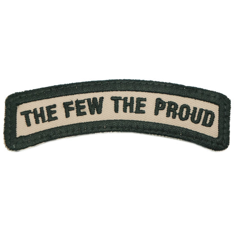 THE FEW THE PROUD TAB - KHAKI WITH BLACK BORDER