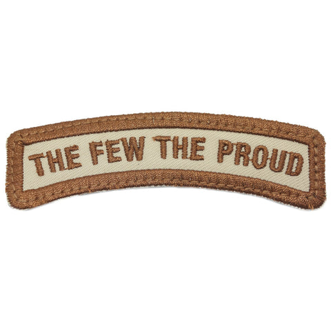 THE FEW THE PROUD TAB - KHAKI WITH BROWN BORDER