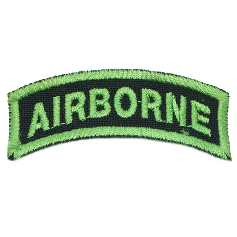 US AIRBORNE TAB - BLACK GREEN
