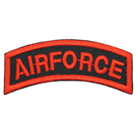 US AIRFORCE TAB - BLACK RED